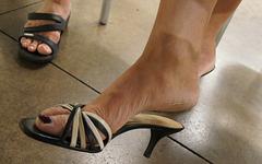 wife in ann taylor heels