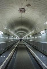 Hamburg, Alter Elbtunnel - Historical tunnel below the river Elbe
