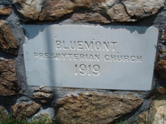 Bluemont presbyterian church - 1919.