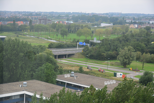 View from the Gorlæus Laboratory of Leiden University