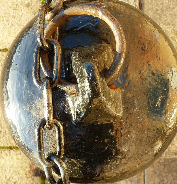 Bollard and chain