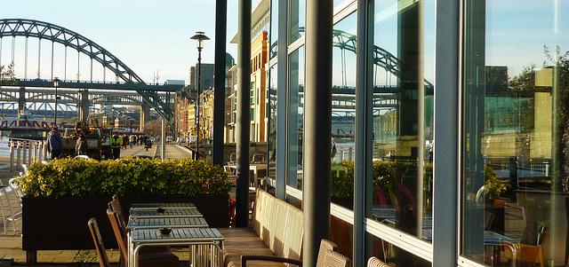 Tyne Bridge reflected