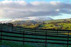 Winter view of Pendle Hill.