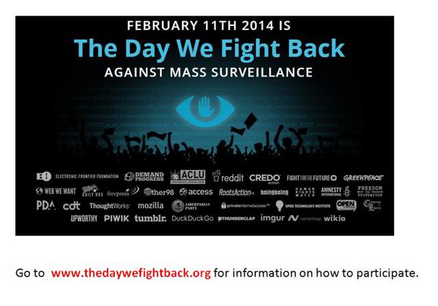 Network Surveillance protest