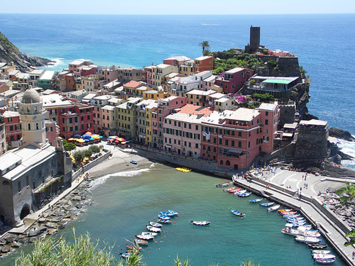 Arriving at Vernazza