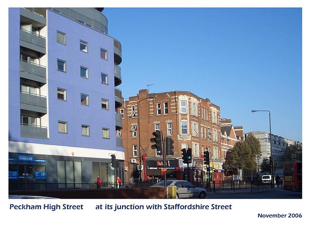 Peckham High Street & Staffordshire Street junction  - London SE15