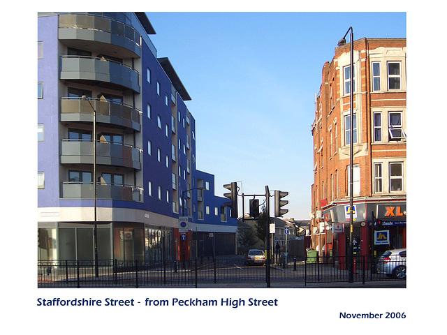 Staffordshire Street from Peckham High Street - London