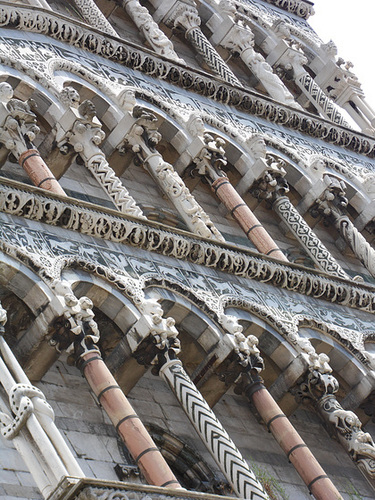 The Intricate and Varied Facade of Chiesa di San Michele, Lucca
