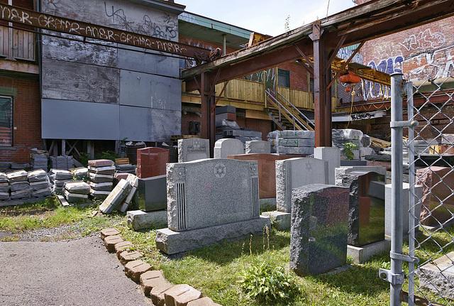 The Monument Dealer – Saint-Laurent near Napoléon, Montréal, Québec