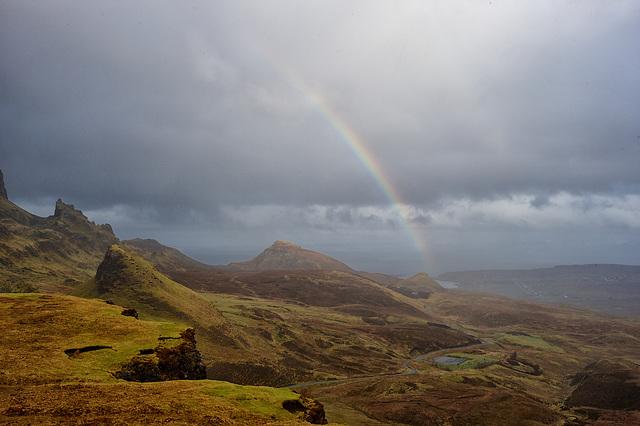 Rainbow over The Quiraing - Isle of Skye
