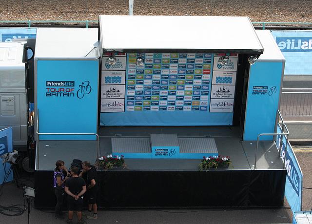 Stage 7 podium