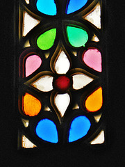 Stained glass window, detail