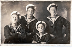 HMS Victory Interwar Period Group of Sailors, taken in Manchester