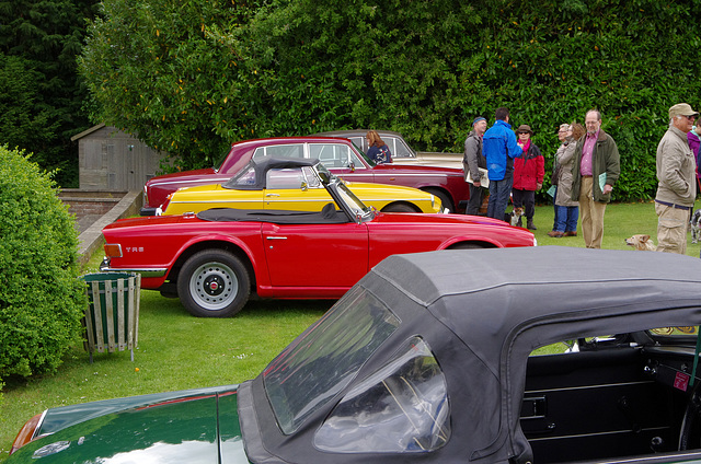Two MGBs, two Rolls-Royces and a TR5