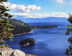Lake Tahoe, Emerald Bay and Fanette Island, 1989 (315°)