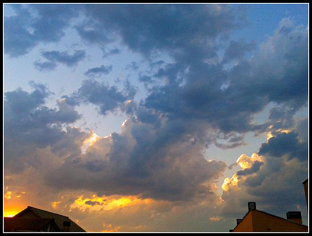 Nubes del crepúsculo