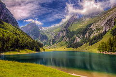 Seealpsee and Saentis Peak (240°)