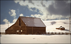 Old log barn.