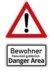 Bewohner vom Gefahrengebiet werden aufgefordert, sich umgehend zu kennzeichnen!