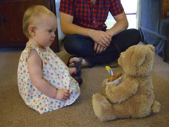 Arya With the Happy Birthday Teddy