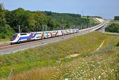 La rame 746 teste la LGV Rhin-Rhône