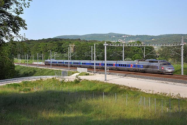 TGV SE à contre-sens