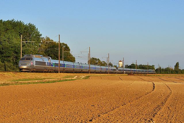 TGV SE en fin de journée