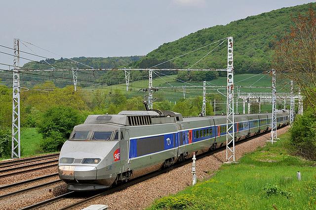 TGV SE en Bourgogne