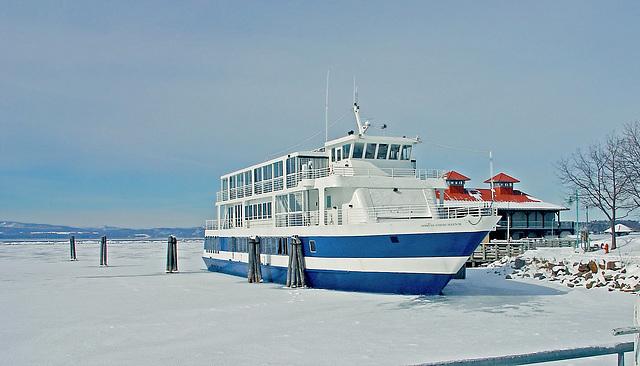 Frozen in the Lake Champlain