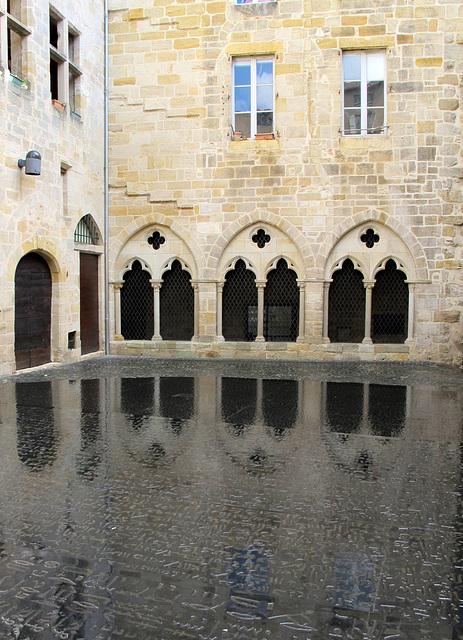 La place des écritures, Figeac, Lot, Midi-Pyrénées, France