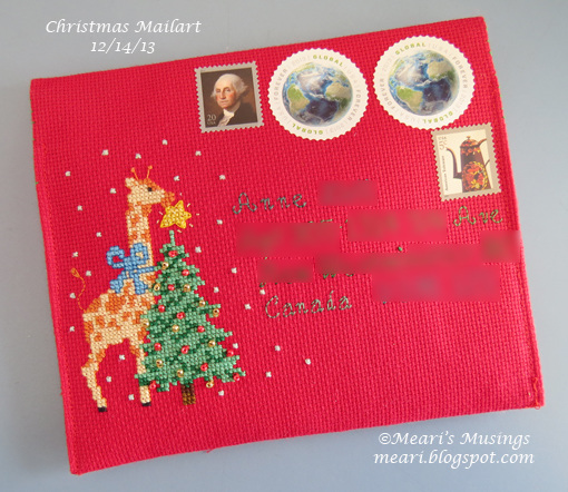 Christmas Mailart 12/14/13 - Front