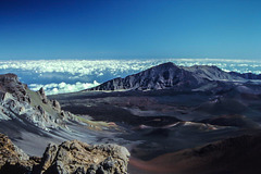 Haleakala Caldera, Maui, Hi, Dec 1980 (090°)