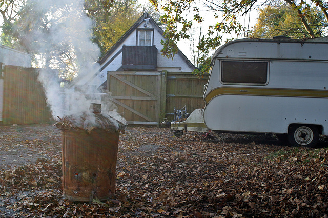 Autumn is here, love it when smoke just gently rises vertically