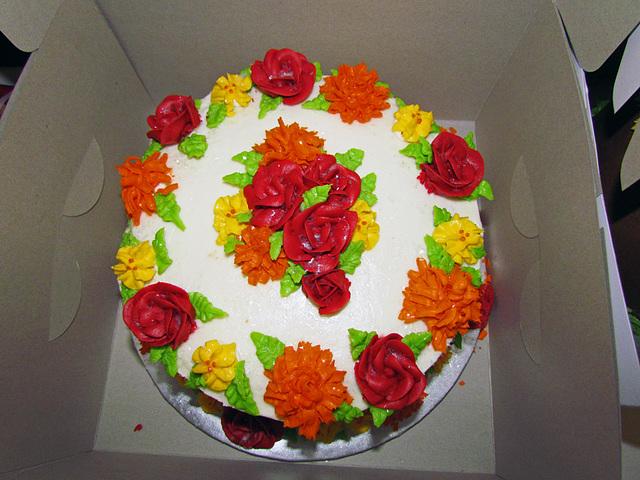 Ornate Floral Cake