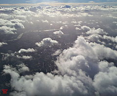 River Thames through the clouds