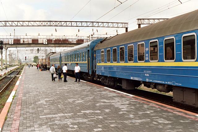 Train journey from Kiev to Berlin – Korosten station
