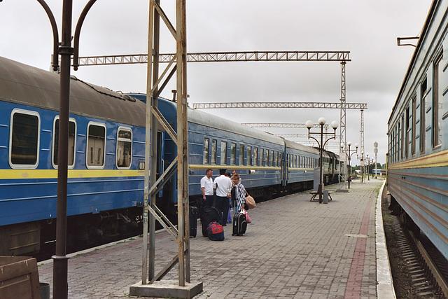 Train journey from Kiev to Berlin – Kovel station