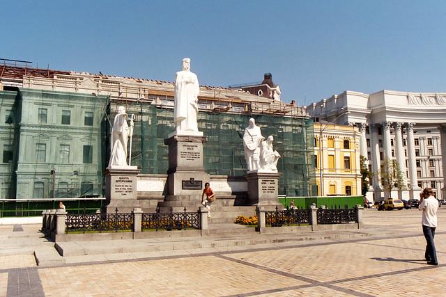 Kiev – Monument to Princess Olga on Mykhailivs'ka square