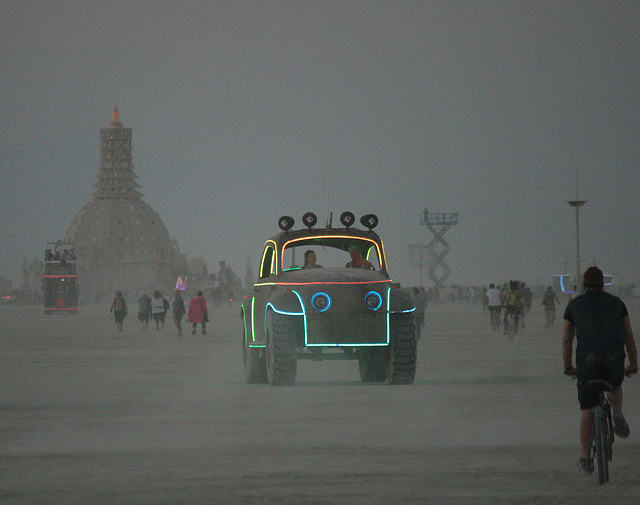 Camp Walter's VW Bug On The Night Of The Temple Burn (4745)
