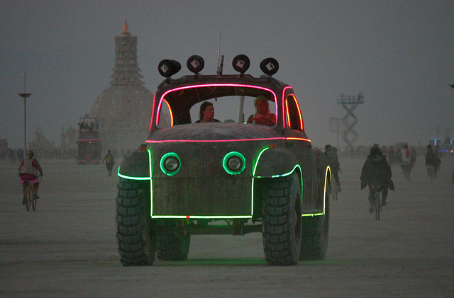 Camp Walter's VW Bug On The Night Of The Temple Burn (4746)