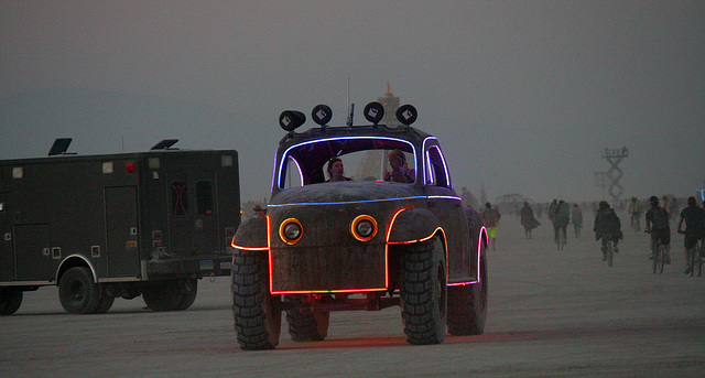 Camp Walter's VW Bug On The Night Of The Temple Burn (4747)