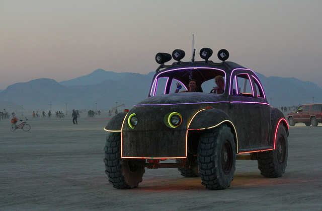 Camp Walter's VW Bug On The Night Of The Temple Burn (4749)