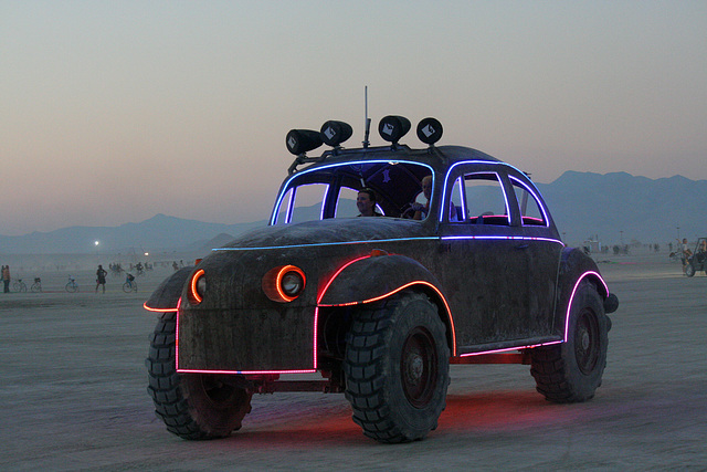 Camp Walter's VW Bug On The Night Of The Temple Burn (4750)