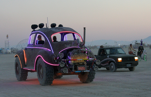 Camp Walter's VW Bug On The Night Of The Temple Burn (4754)