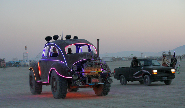 Camp Walter's VW Bug On The Night Of The Temple Burn (4755)