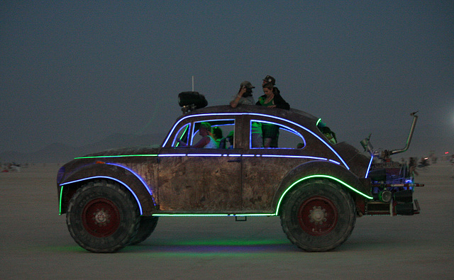 Camp Walter's VW Bug On The Night Of The Temple Burn (4761)