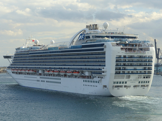 Crown Princess at Port Everglades - 25 January 2014