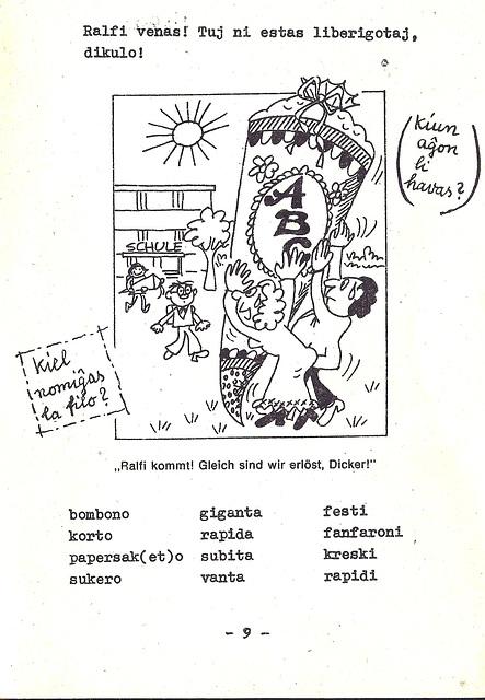Provkurseto de Esperanto kun bildoj: Komenco en lernejo
