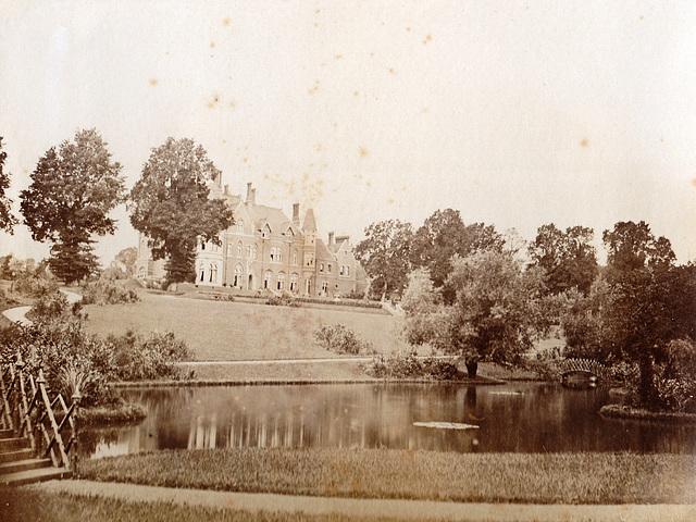 Garden facade, Hitcham House, Hitcham Lane, Hitcham, Buckinghamshire