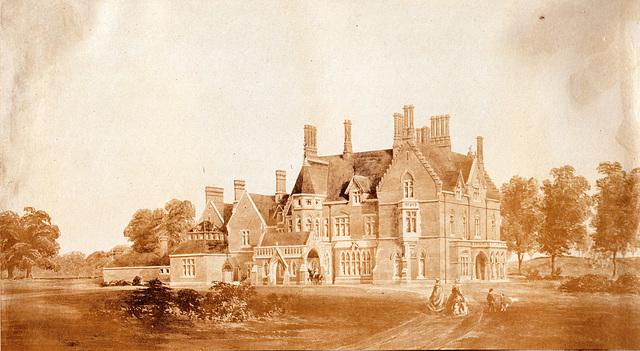 Entrance facade Hitcham House (formerly Blythewood), Hitcham Lane, Hitcham, Buckinghamshire